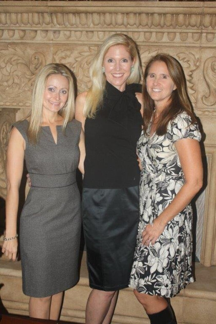 St. Germaine Children's Charity Silver Tea co-chairs Stephanie LaBrucherie, Nicole Brown and president Wendy Neri