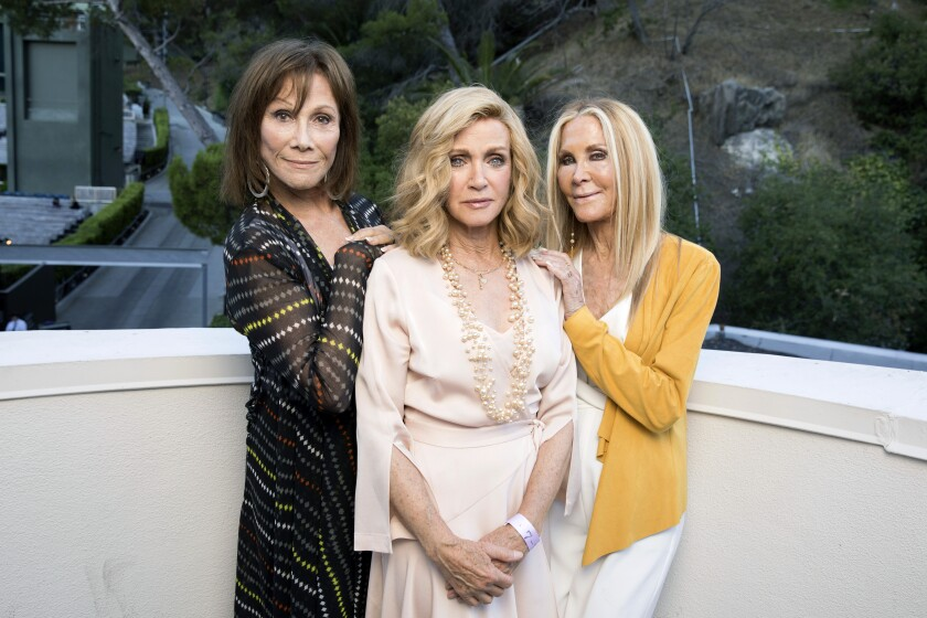 Actresses Michele Lee, Donna Mills and Joan Van Ark