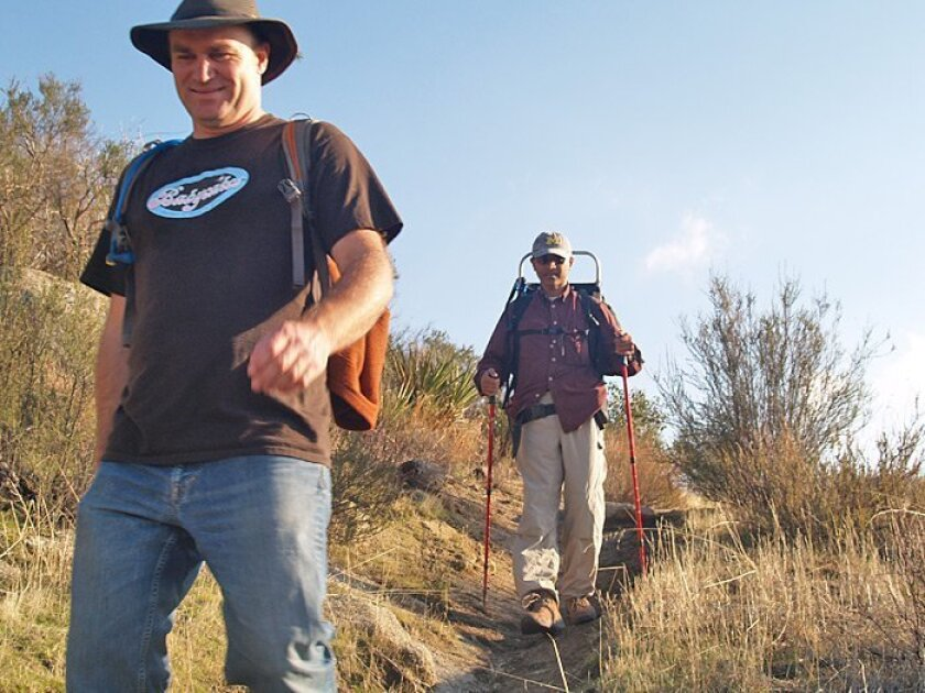 The muddy Hauser Canyon trail can be slippery this time of year.
