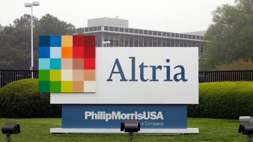 Altria Group corporate headquarters in Richmond, Va., is seen in 2008. The tobacco company has bought a 45 percent stake in in Cronos Group, a Canadian medical and recreational marijuana provider.