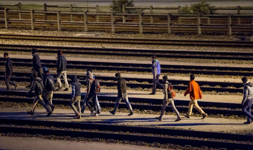 Eurotunnel migrants