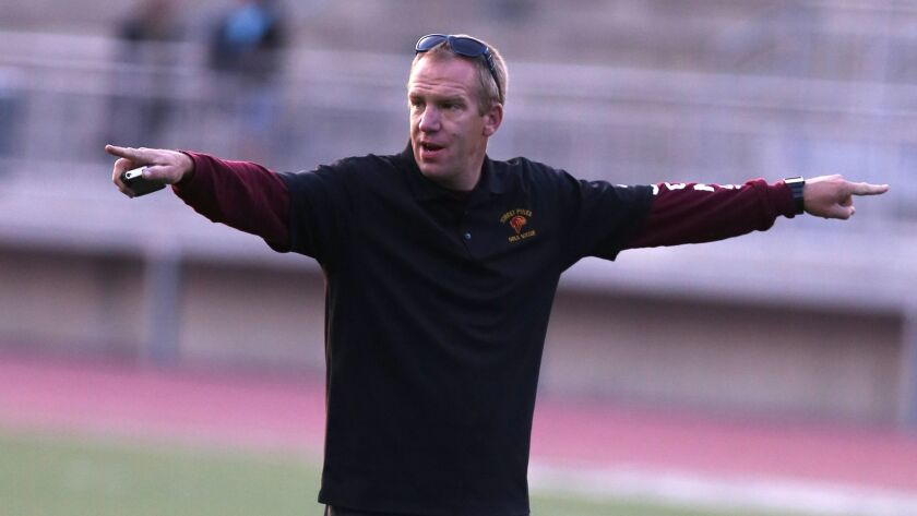 Torrey Pines girls soccer coach Martyn Hansford has his Falcons poised for a run at a San Diego Section title.