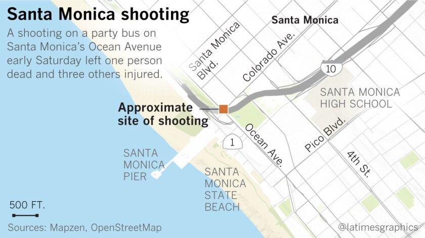 Site of Santa Monica party bus shooting