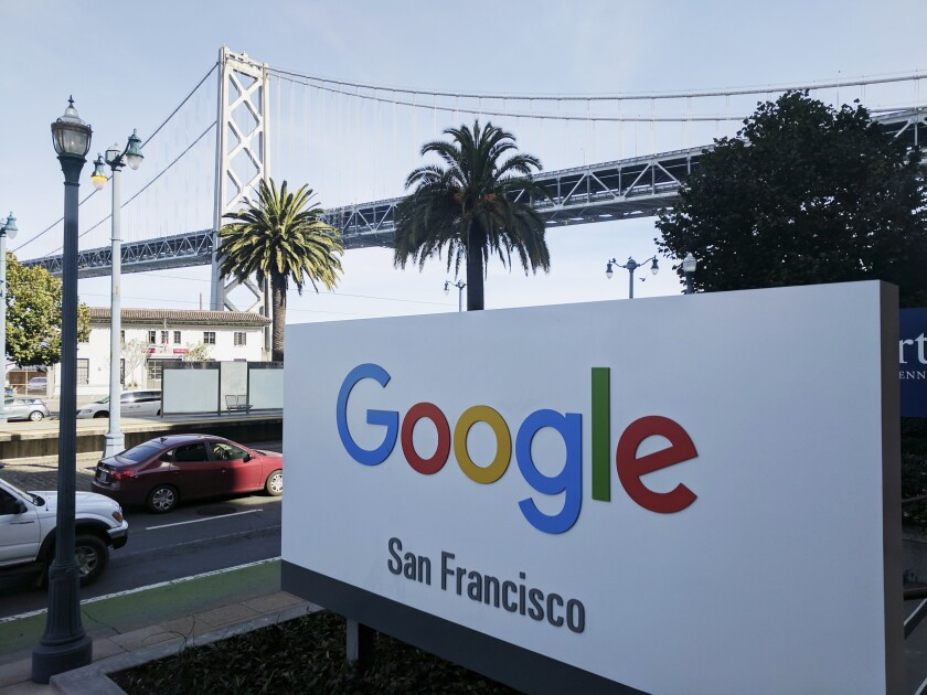 Google said it fired the four workers for violating its data security policy. The workers say they didn't violate policy.