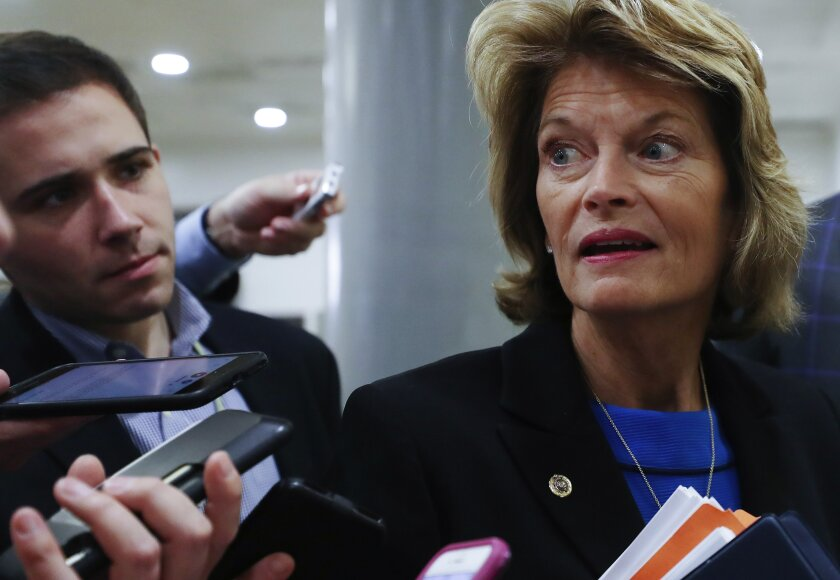 Sen. Lisa Murkowski (R-Alaska) had been seen as Democrats' last hope of mustering Republican votes to call witnesses in President Trump's impeachment trial.
