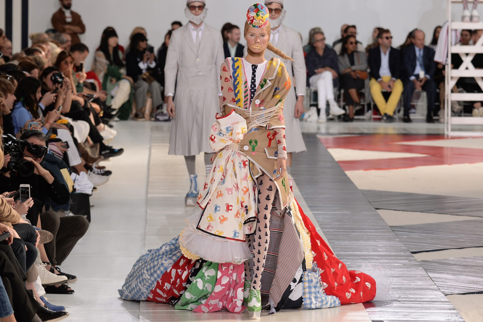 Paris Fashion Week Thom Browne Takes A Brain Bending Stroll On The Strand For Spring And Summer 2019 Los Angeles Times