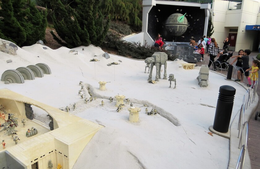 The frozen planet of Hoth is depicted in this display at Star Wars Miniland at Legoland California theme park in Carlsbad on Nov. 18. The Star Wars land, which opened in 2011, will close on Jan. 6, 2020.