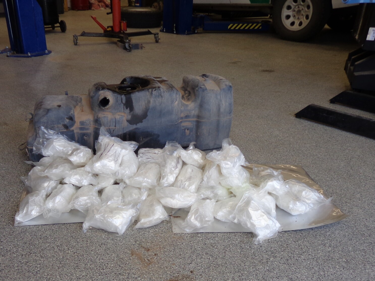 Border Patrol finds 55 pounds of methamphetamine in truck's gas tank