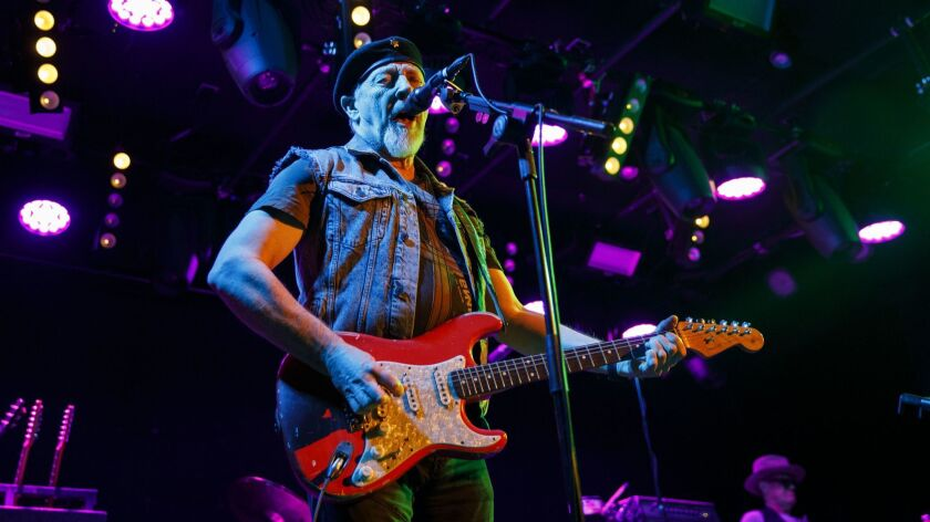 Singer and guitarist Richard Thompson performs at the Teragram Ballroom on Tuesday.