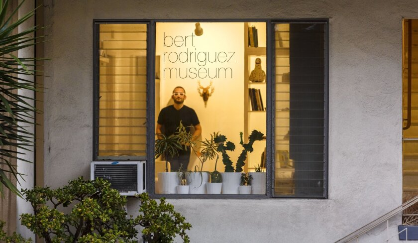 Artist Bert Rodriguez is in the process of turning his West Hollywood apartment into a museum — complete with a board, docents and gift shop. It will show works of art and be its own work of art, too.