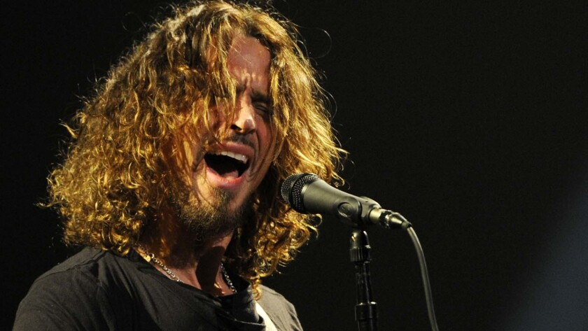 Chris Cornell of Soundgarden performs at the Wiltern Theatre in L.A. in February 2013.