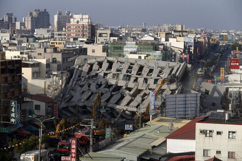 Prosecutors suspect a 17-story building that collapsed in Taiwan's earthquake was built with dubious construction methods.