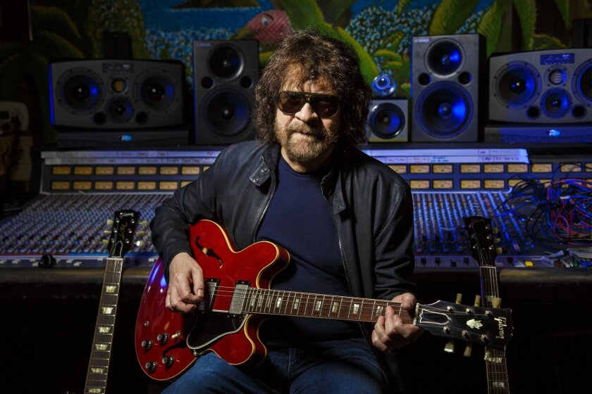 Jeff Lynne is photographed at his home sound studio on Oct. 20, 2015.