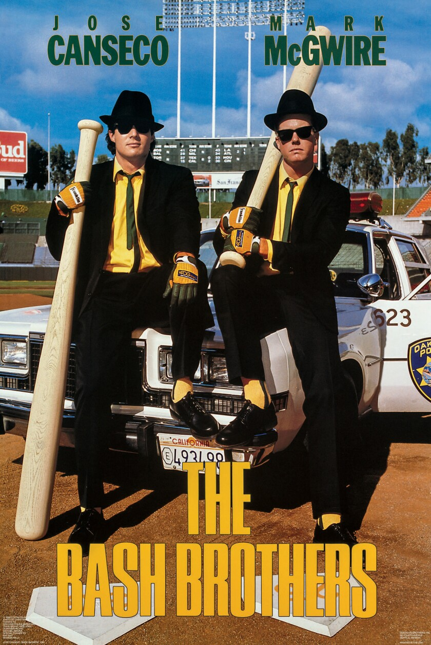 "Costacos Brothers poster of Jose Canseco and Mark McGwire, ""The Bash Brothers."""