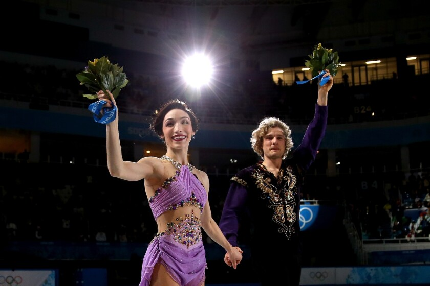 NBC's prime-time Sochi Olympics ratings have been down from the Vancouver Winter Olympics four years ago. The network plans to broadcast Monday evening the performance earlier in the day of American ice dancers Meryl Davis and Charlie White, shown above.