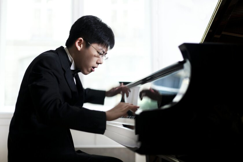 Pianist Hoachen Zhang. Photo: Benjamin Ealovega