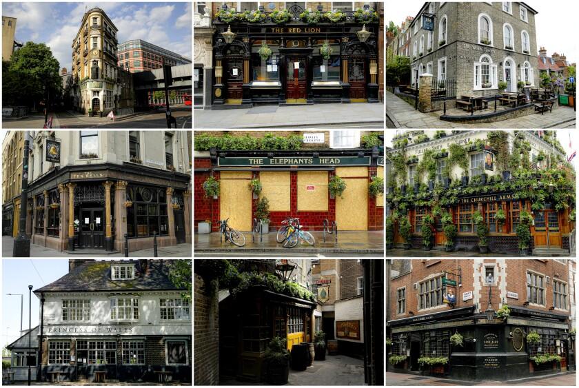 Virus Outbreak Britain Pubs Closed Photo Gallery