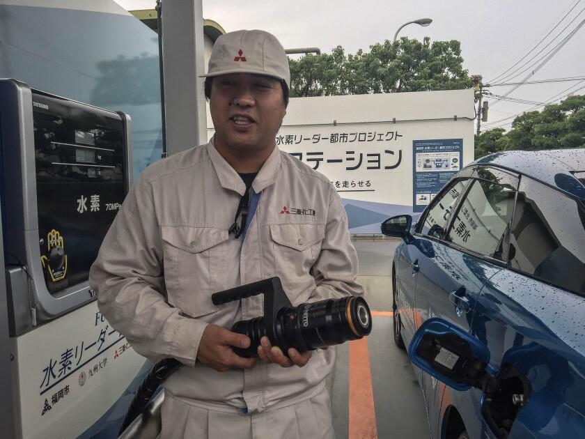 A hydrogen filling station in Fukuoka, Japan.