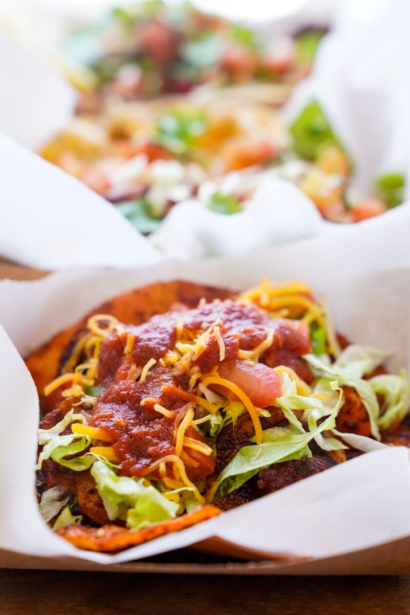 Barbara Burrell's signature shrimp taco.