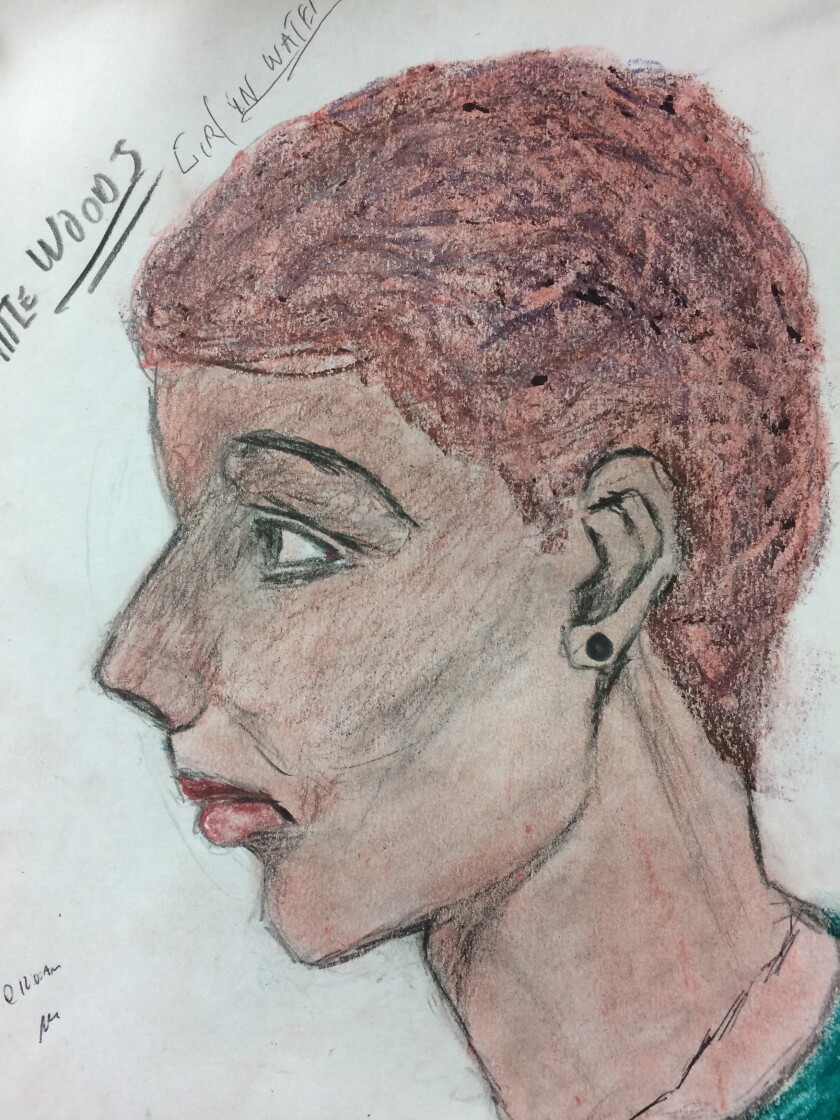 Samuel Little, confessed serial killer, rendered this portrait of a woman he says he killed in New Orleans