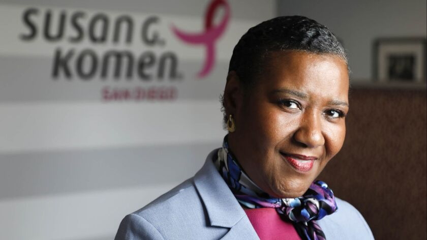 SAN DIEGO, CA 10/12/2018: Lilian Vanvieldt-Gray, who is the Susan G. Komen's honorary survivor for t