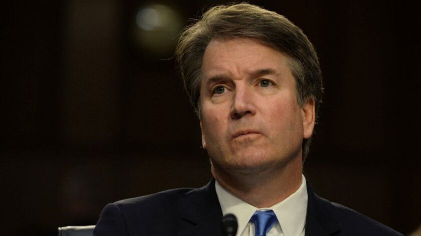 Supreme Court nominee Brett Kavanaugh at his confirmation hearing Sept. 5 before the Senate Judiciary Committee.