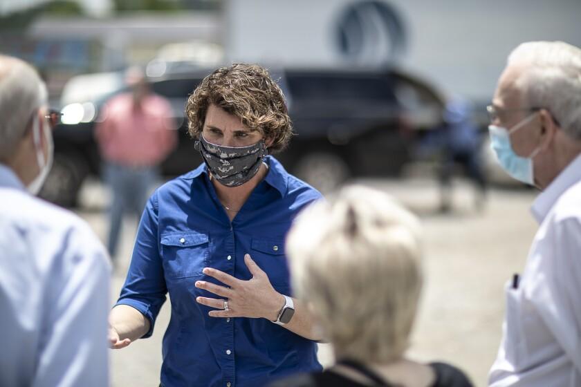 U.S. Senate candidate Amy McGrath in Pikeville, Ky., last week.
