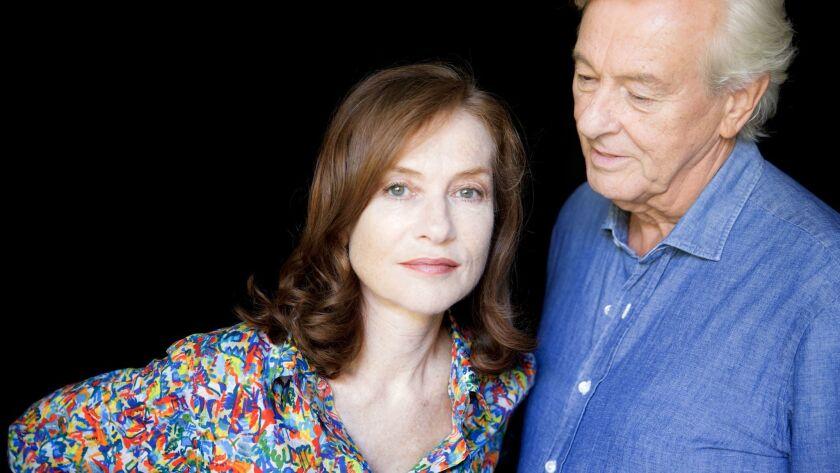 """Elle"" actress Isabelle Huppert and director Paul Verhoeven."