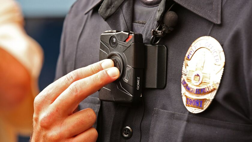 An LAPD officer body camera