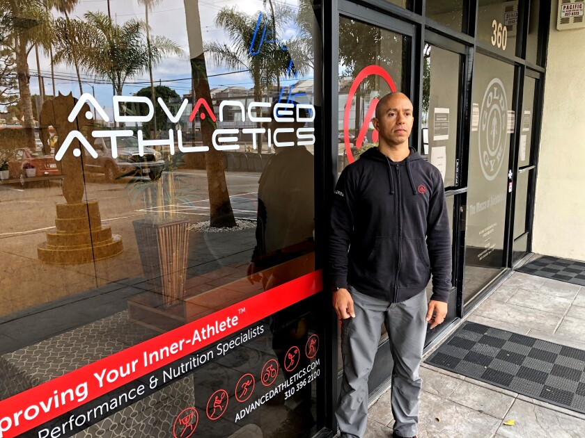 """Adam Friedman of Advanced Athletics in Venice said he was """"starting to build an online platform where I can guide people through their fitness routines."""""""
