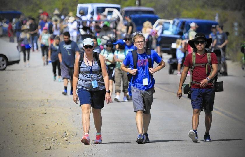 The first group leaves Border Field State Park in south San Diego County on Saturday for El Camino del Inmigrante, or The Path of the Immigrant, a 132-mile, 11-day walk to Los Angeles to highlight U.S. immigration policy.