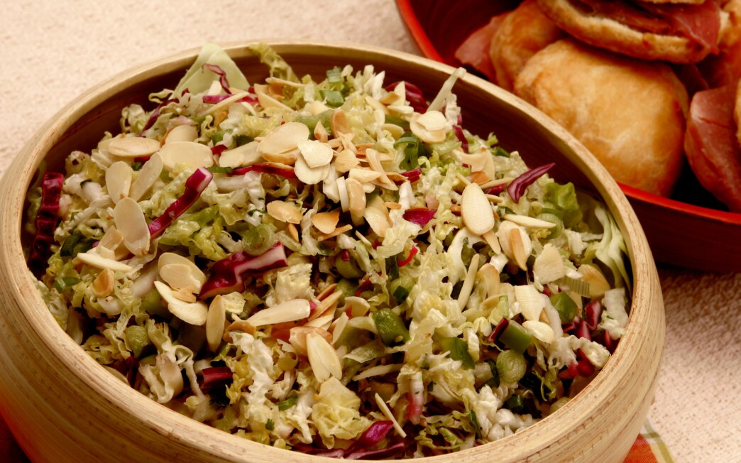 Three-cabbage coleslaw