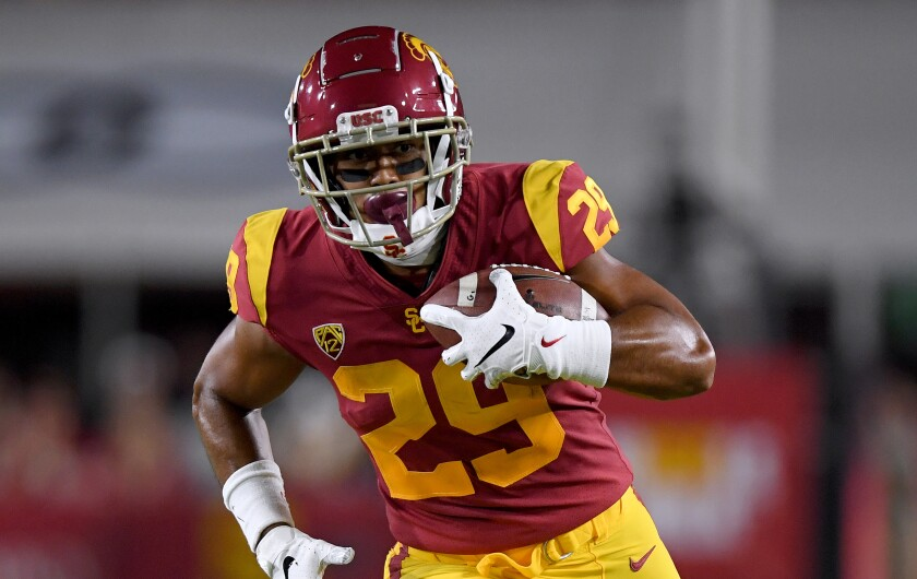 USC running back Vavae Malepeai had been playing with pain in his knee for the past seven weeks.