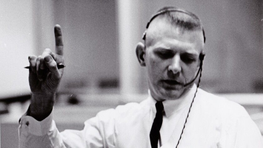"NASA Flight Director Gene Kranz in the documentary ""Mission Control."""