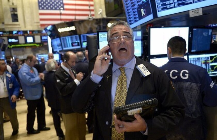 The New York Stock Exchange floor. That trade may cost you a few more pennies, fella.