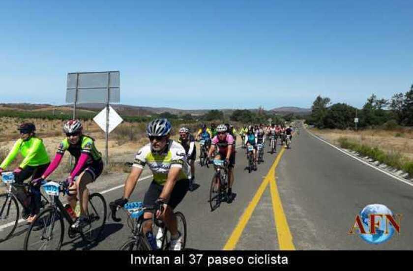 Invitan al 37 paseo ciclista