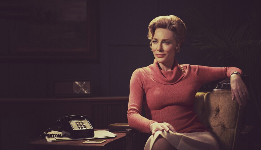 "Cate Blanchett as Phyllis Schlafly in ""Mrs. America."""