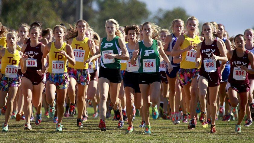 Runners charge out in the San Diego Section Division I cross country finals on Nov. 17 at Balboa Park's Morley Field