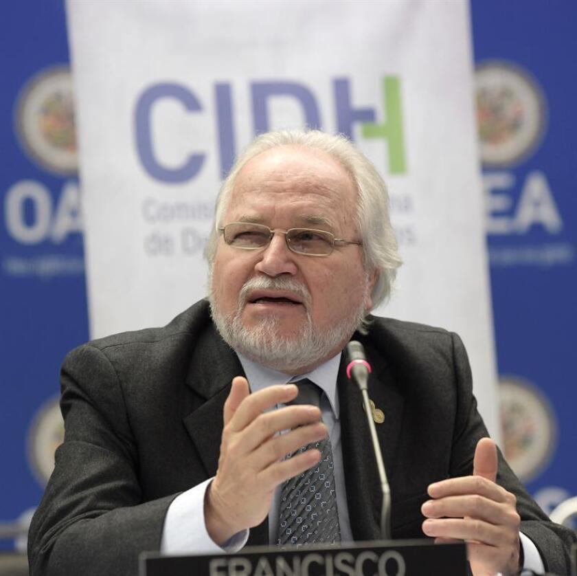 El presidente de la Comisión Interamericana de Derechos Humanos (CIDH), Francisco Eguiguren. EFE/Archivo