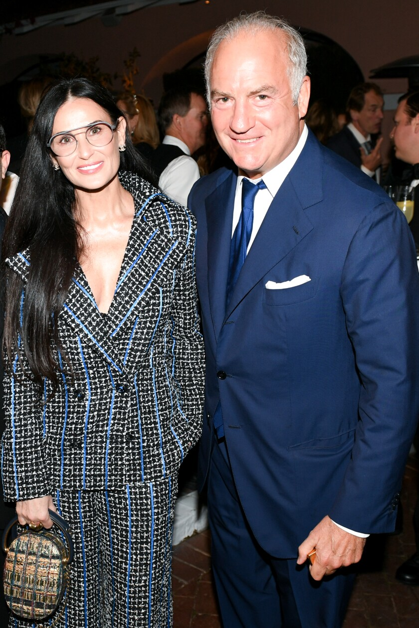 Demi Moore and Charles Finch