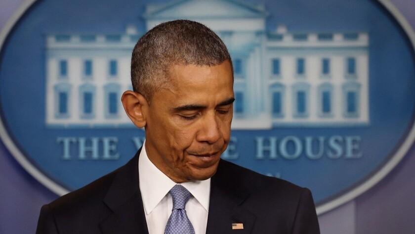 President Obama at the White House.