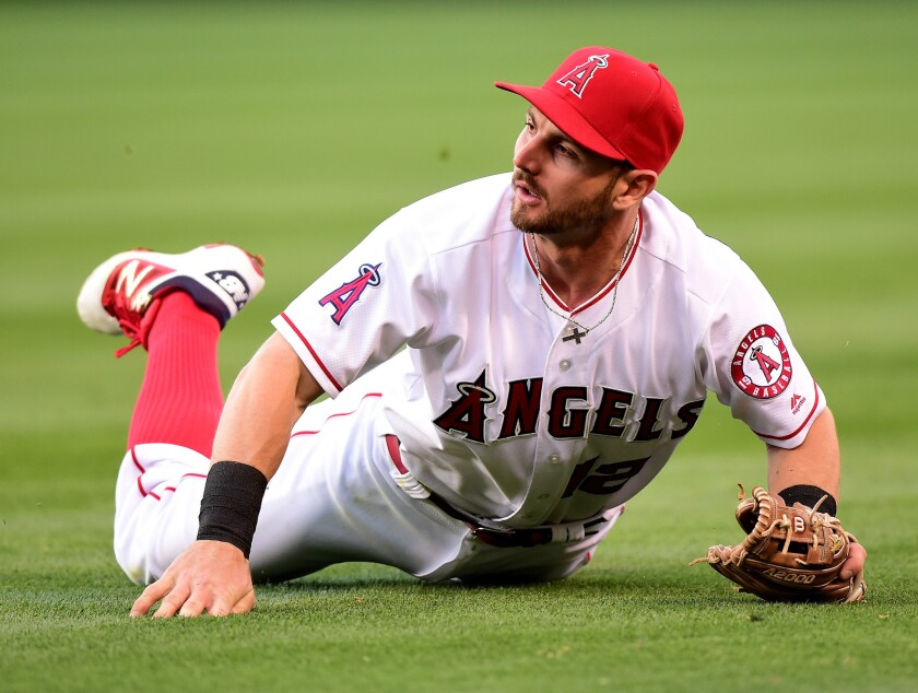 Second baseman Johnny Giavotella and the Angels have struggled this season and injuries are only compounding their woes.