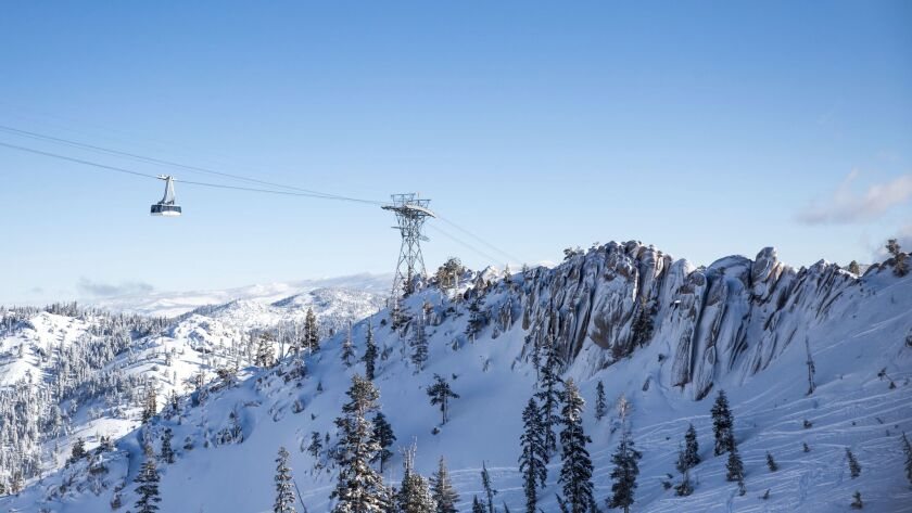 Image form Squaw Valley during the 2017 ski season. Squaw Valley and Alpine Meadows, owned by the sa