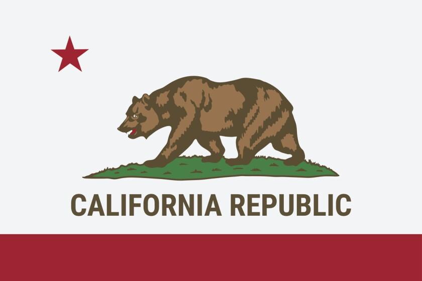 California state flag. (iStock)
