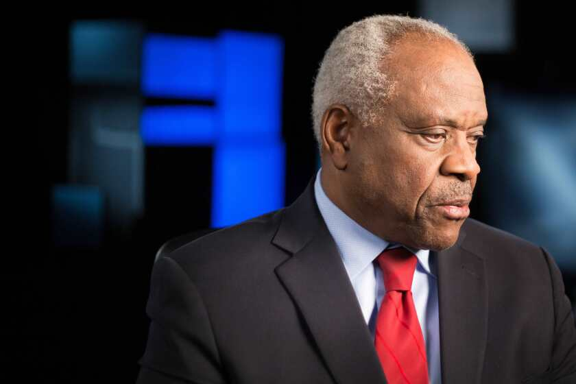 """Justice Clarence Thomas in the documentary """"Created Equal: Clarence Thomas in His Own Words."""""""