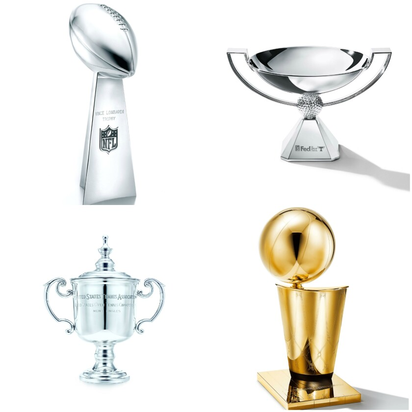 Sports trophies made by Tiffany & Co.