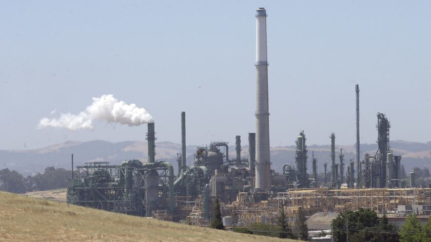 The Valero oil refinery in Benicia, Calif.