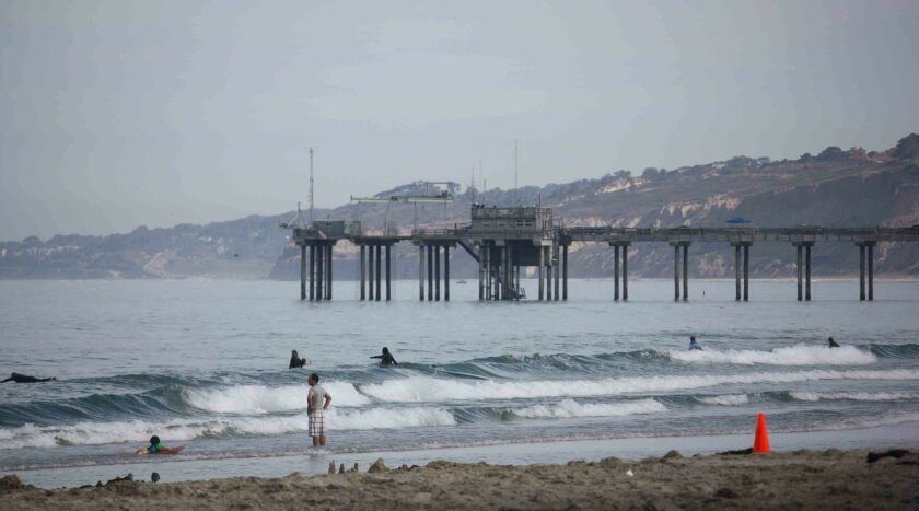 Monitoring has already started at Scripps Pier. Photo: Kathy Day