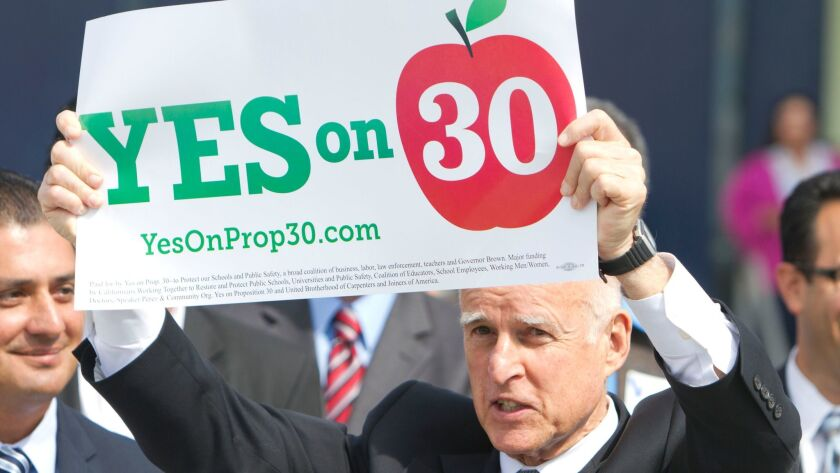 Gov. Jerry Brown in San Diego in 2012.