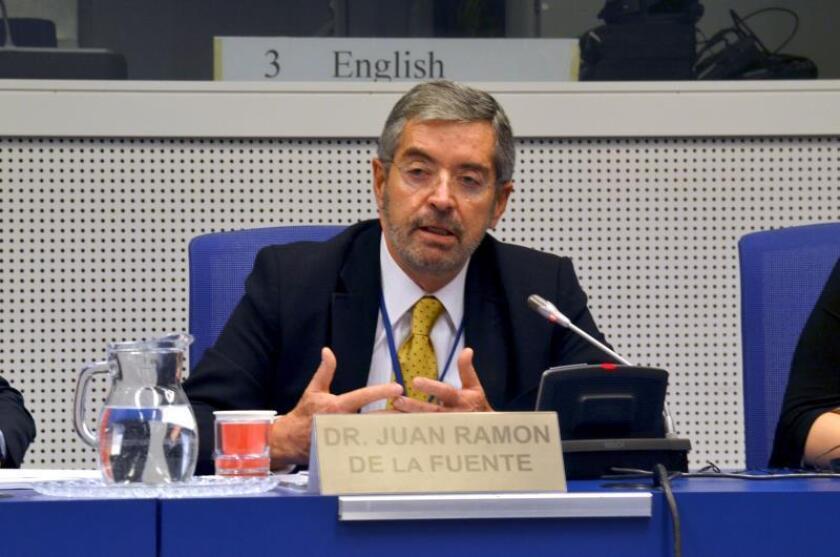 Juan Ramón de la Fuente, nuevo enviado especial en materia de drogas del presidente de México y representante permanente de su país ante la ONU en Nueva York, interviene en la Comisión de Narcóticos de la ONU en Viena. EFE